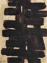 pierre-soulages-brou-de-noix-sur-papier-32.5-x-24.5-cm,-1949