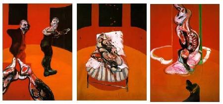 Francis Bacon. Tres estudios para una crucifixión. 1962