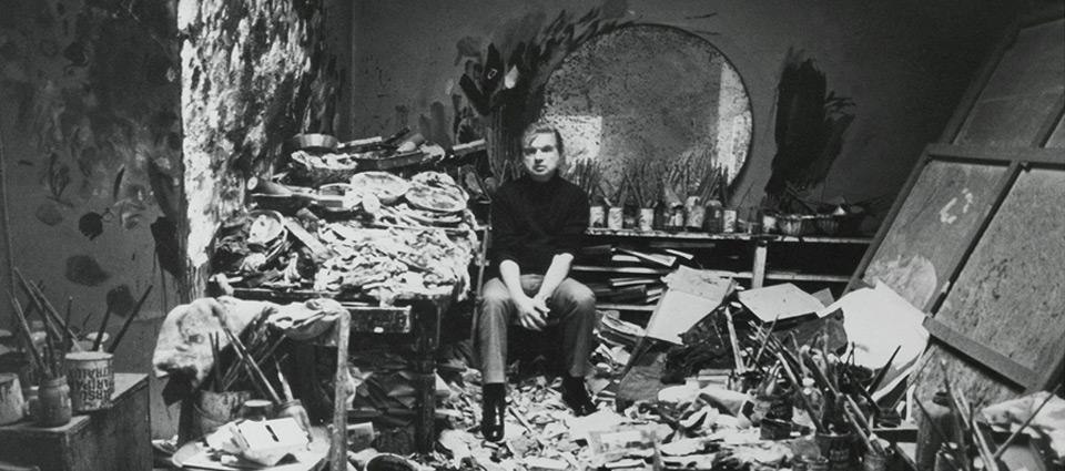 Artista en su estudio.