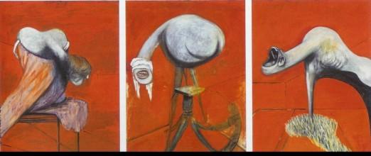 Francis Bacon. Tres estudios para figuras al pie de una crucifixión. 1944.
